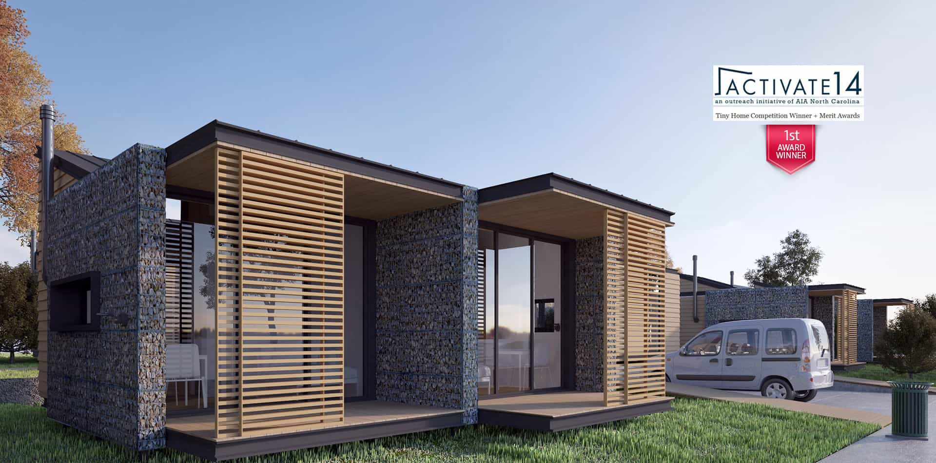 3d animation architectural visualization modeling for Small house design contest winners