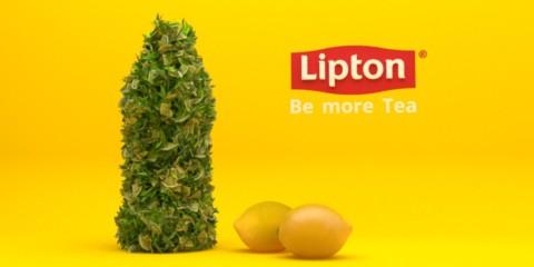 Lipton ice tea – Bottle redesign – web advert