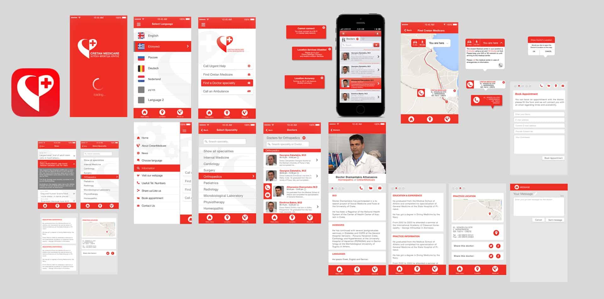 Cretan Medicare mock ups concepts