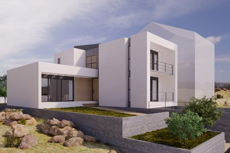 3d photoreal architectural design – House in Athens Greece