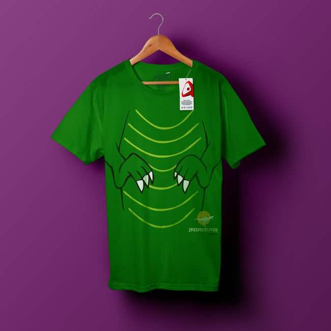 green dinosaur t shirt