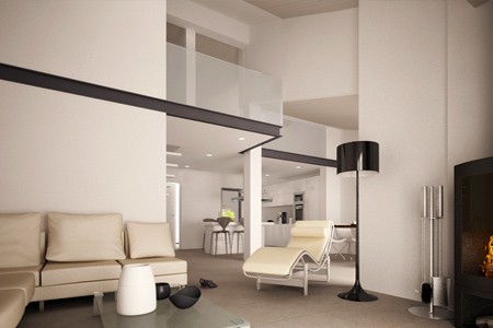 3d interior house in Athens