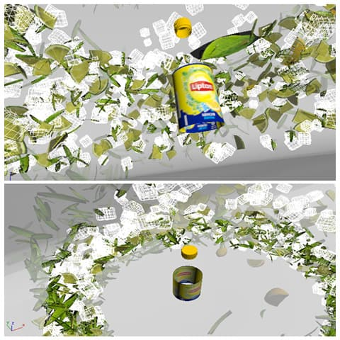 lipton ice tea particles 3ds max