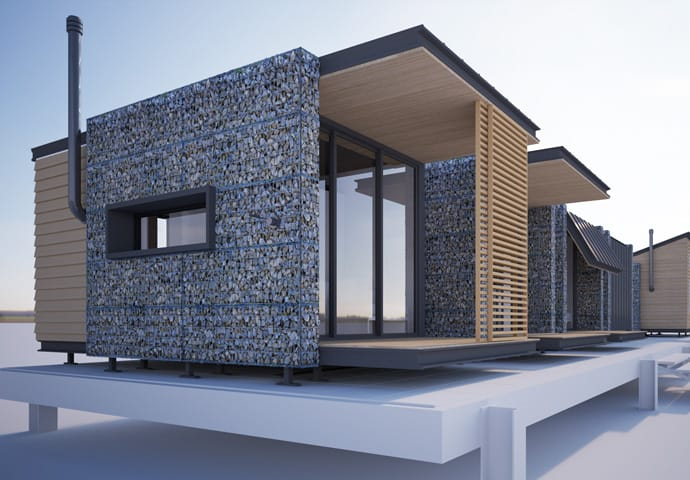 Tiny Home Community Competition 2015 3d architectural visualization