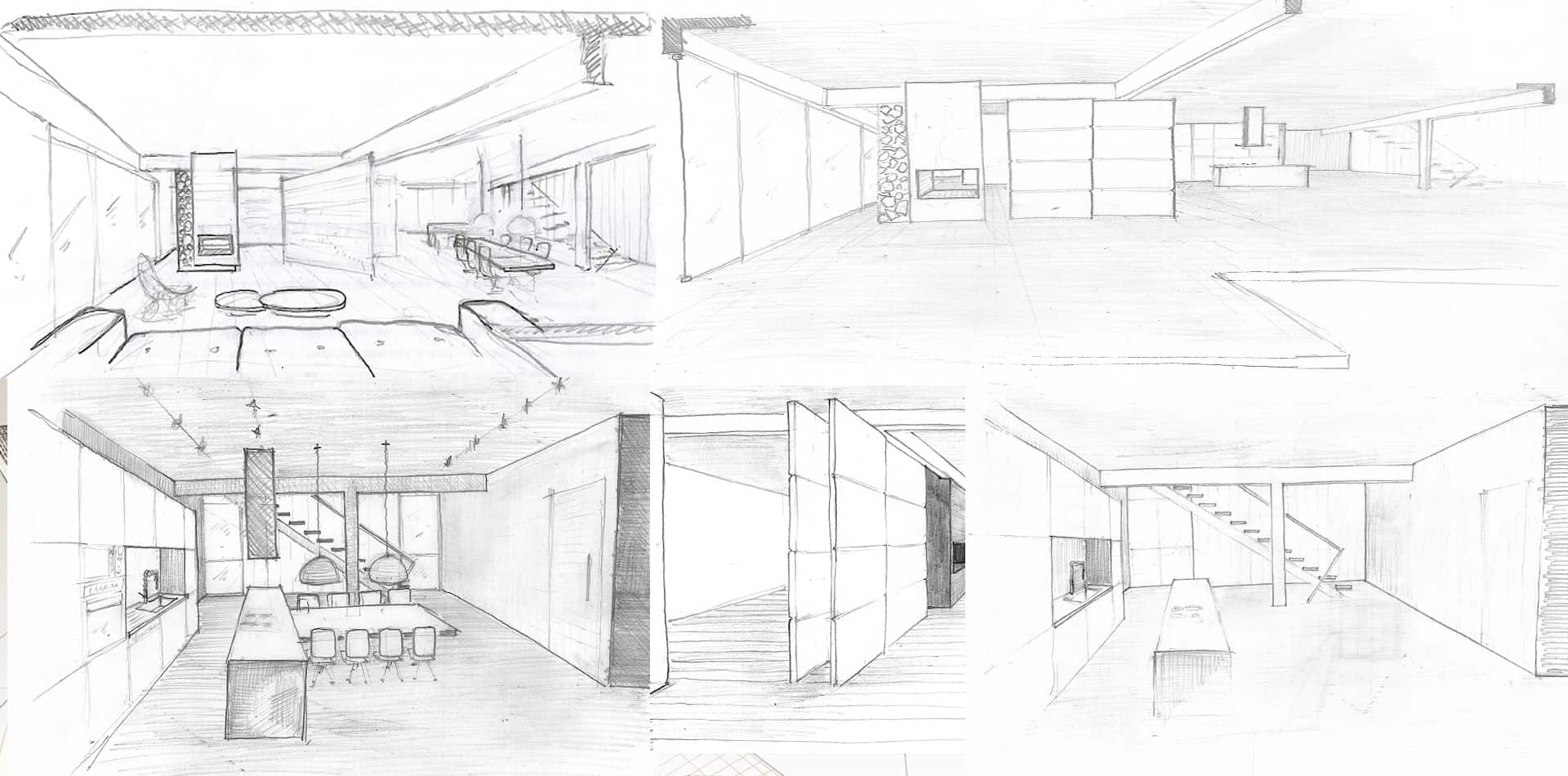 Αρχιτεκτονικός Φωτορεαλισμός εσωτερικό σπίτι στην Αθήνα