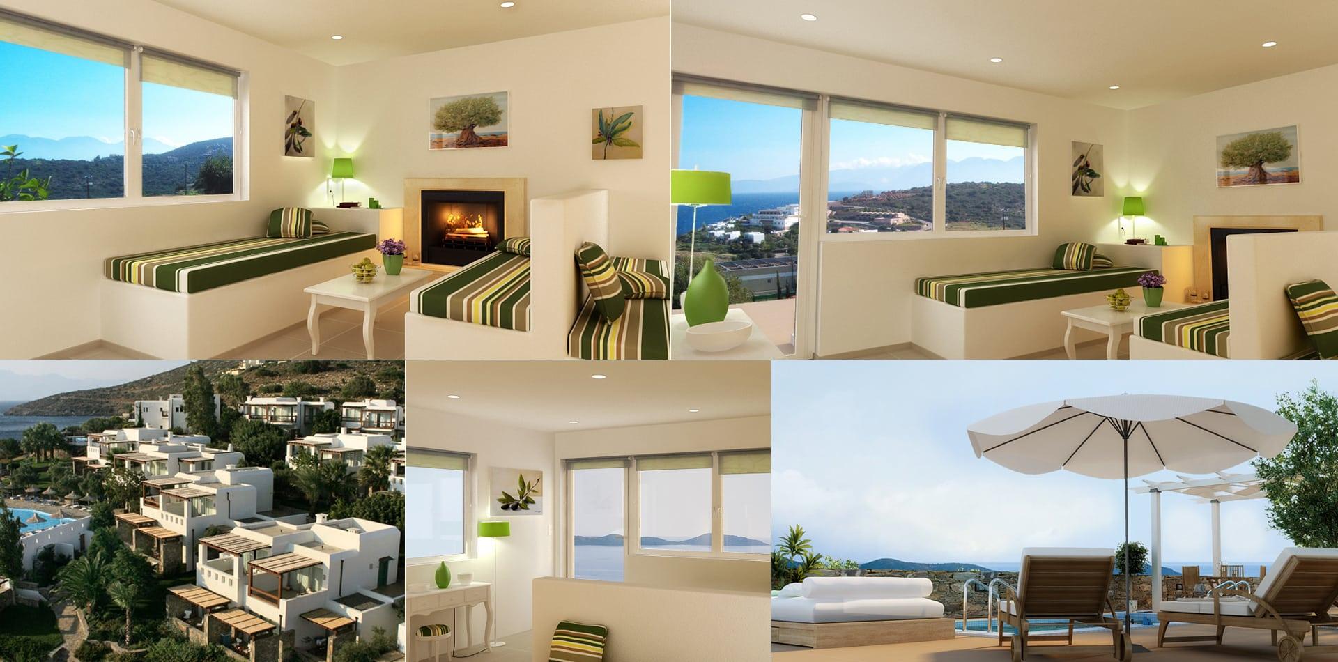 3d Interior Exterior Design Crete Elounda Bungalows