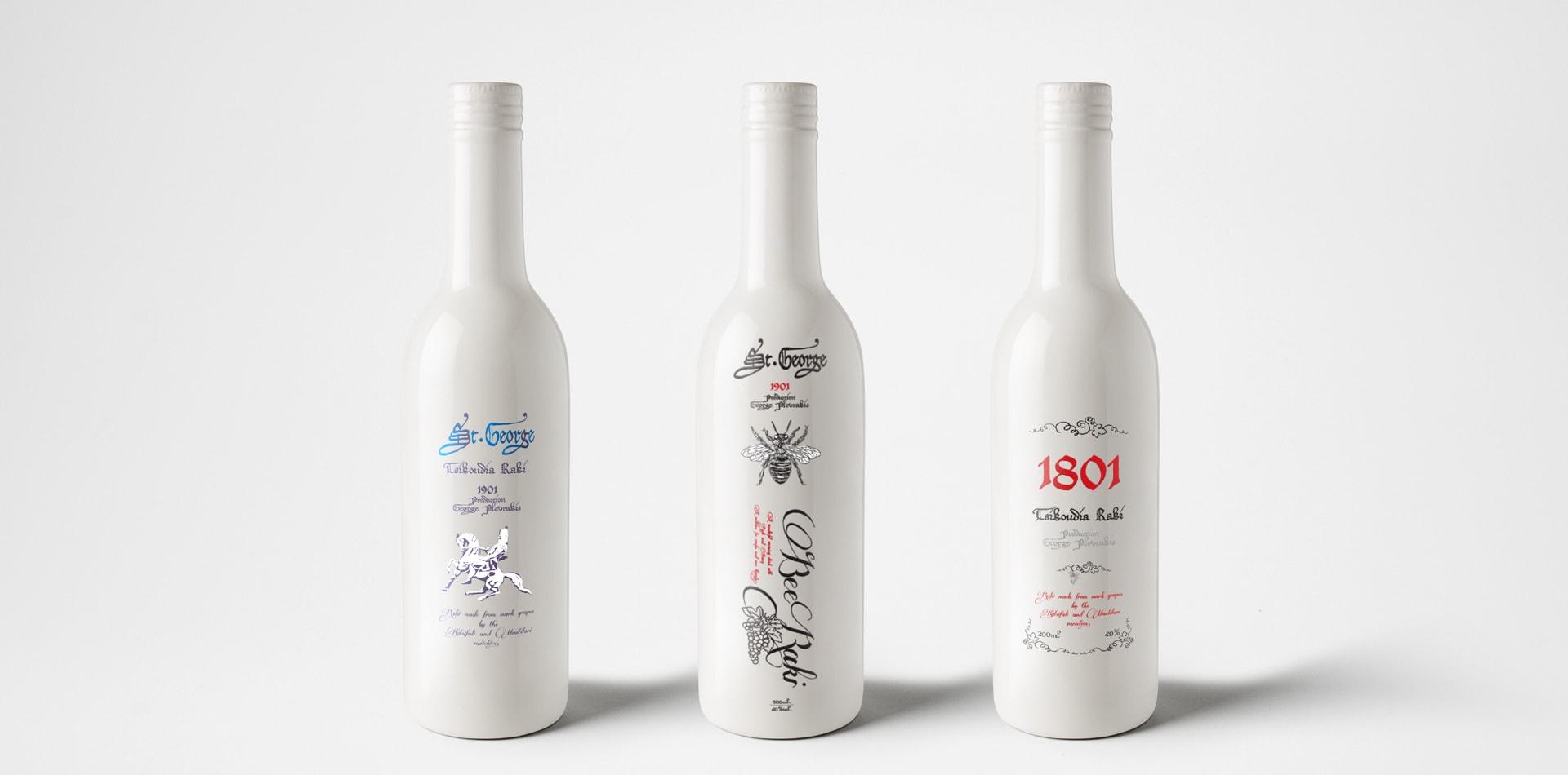 bottle label design packaging