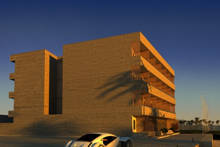 Infinity Blue hotel, 3d visualisation of hotel in Greece, Crete