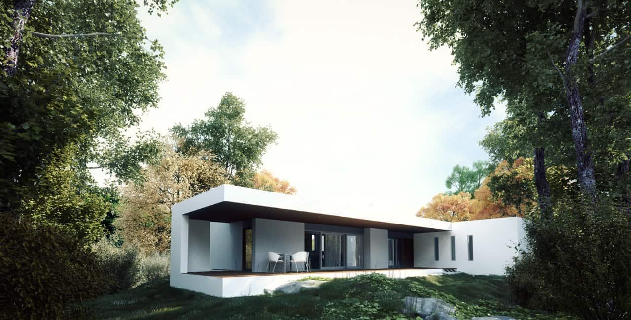 3d exterior villa in athens