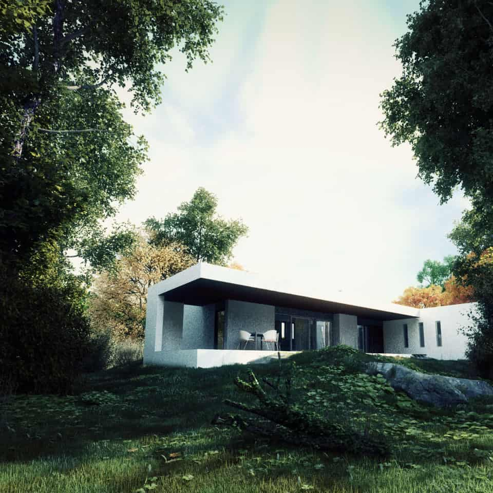 3d exterior villa in athens_960