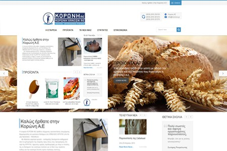 koroni s.a – website design