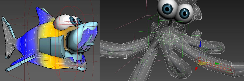 cartoon character skinning binding rigging