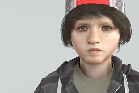 3d boy character Rigged and Animated, photorealistic game characters