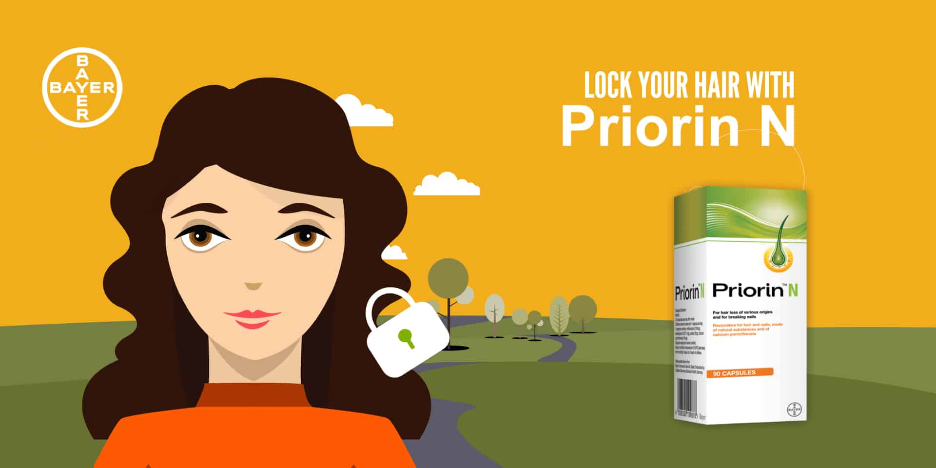 2d medical animation video production for Priorin Bayer