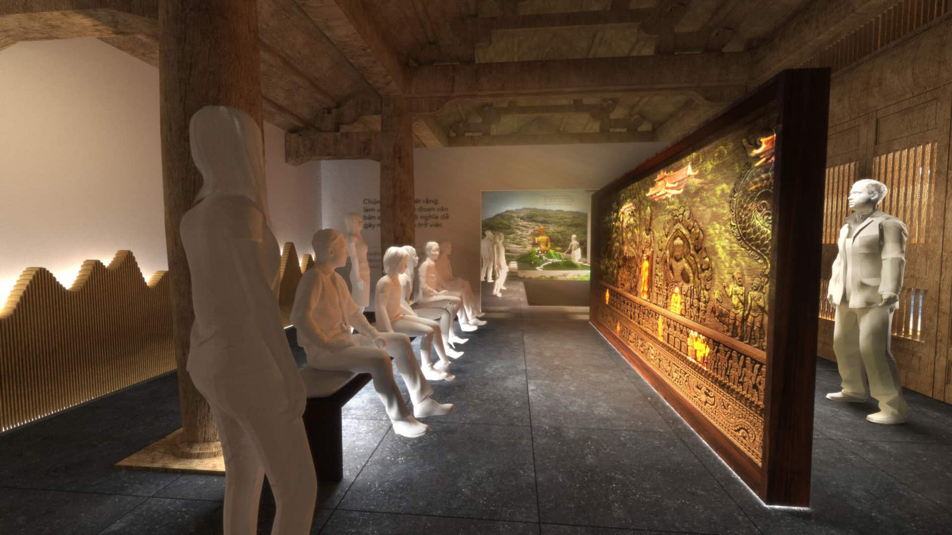 3d rendering Exhibition of the Enlightened King