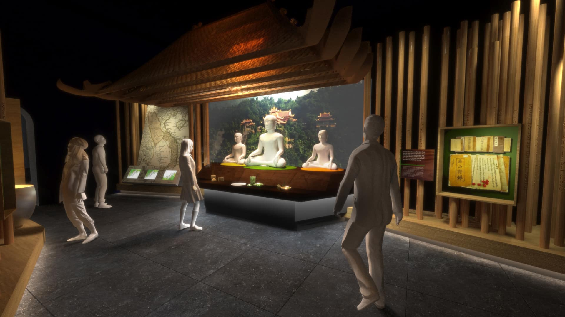 architectural visualization Exhibition of the Enlightened King