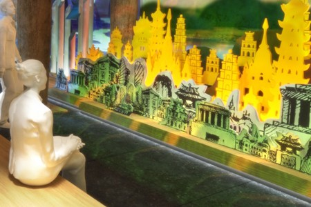 3d architectural presentation Exhibition of the Enlightened King in Vietnam