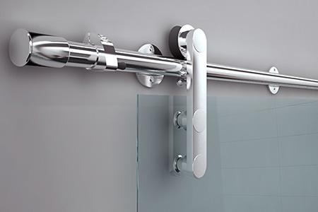 Product design Glass door sliding system