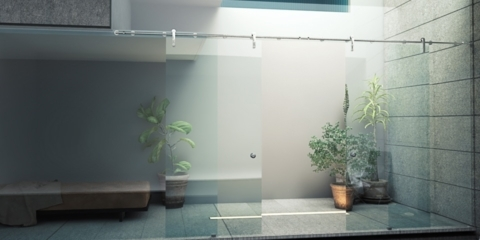 Product design Glass door sliding system