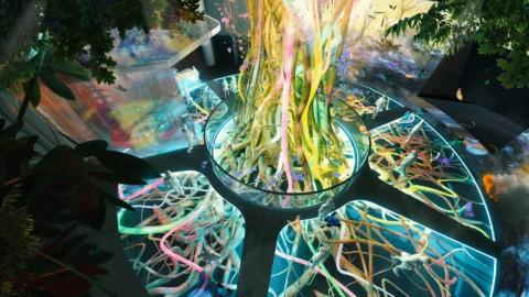 theme park interior visualization _ tree of life