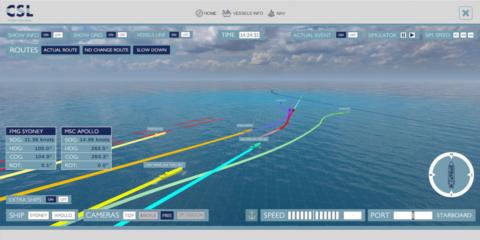Ship collition simulator