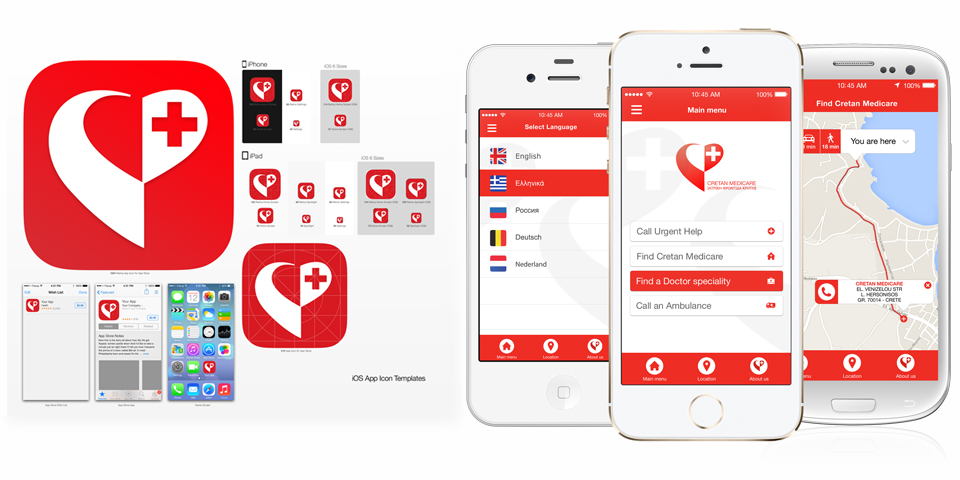 Cretan Medicare mock ups android concepts