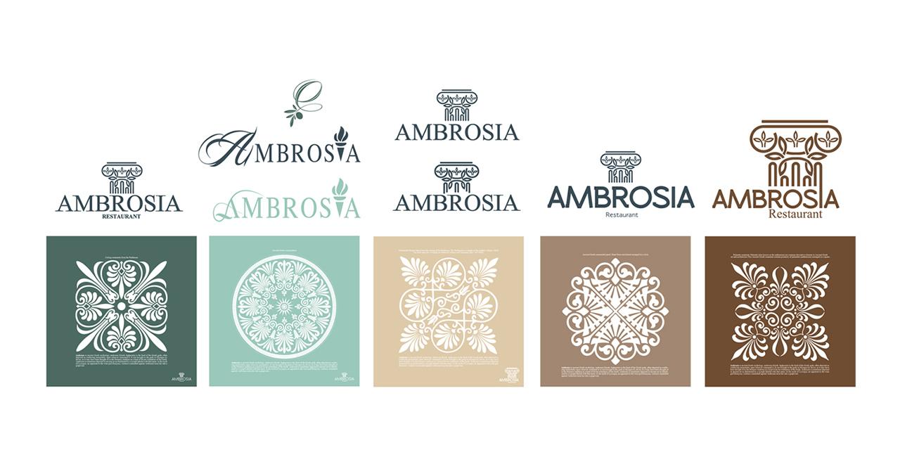 Ambrosia restaurant logo design